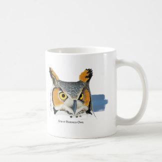 Große Kaffee-Tasse der gehörnten Eule Kaffeetasse