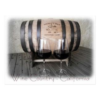 Große Kalifornien-Wein-Postkarte! Postkarte