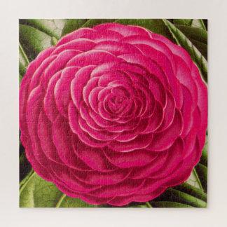 Große Kamelien-Blüte, Fuchsien-Rosa Puzzle
