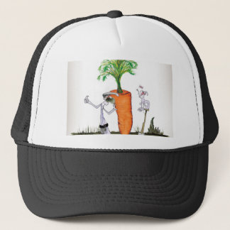 Große Karotten Liebe-Yorkshires Truckerkappe