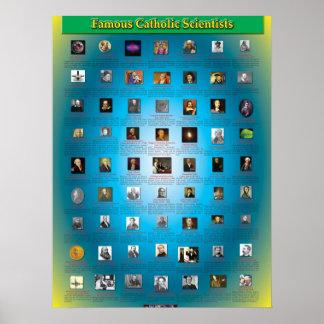 Große katholische Wissenschaftler Plakate