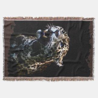 Große Katzen-Jaguar-gepunktete Panther-wild Decke