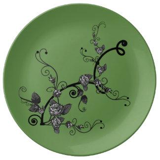 Große Keramik-Porzellan-Platte Porzellanteller