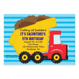 Große Kipper Jungen-Geburtstags-Einladung 12,7 X 17,8 Cm Einladungskarte