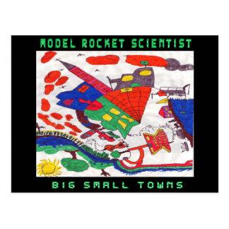 Große Kleinstädte vorbildlichen Rakete Postkarte