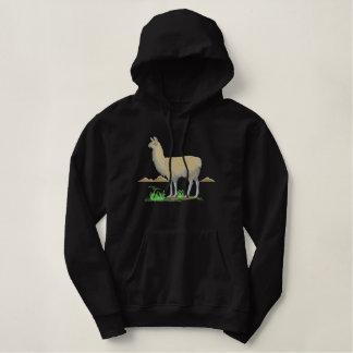 Große Lama-Szene Hoodie