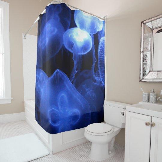 Große leuchtende Quallen Duschvorhang
