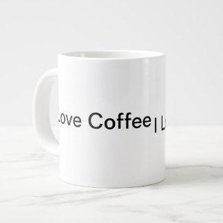 Große Liebe-Kaffee-Tasse des Weiß-I Jumbo-Tasse