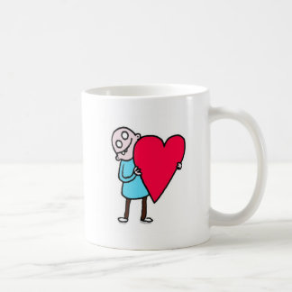 Große Liebe, kahler hässlicher Mann Kaffeetasse
