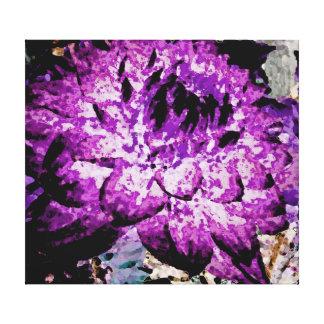Große lila Dahlie Leinwanddruck
