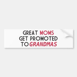 Große Mammen erhalten zu den Großmüttern gefördert Autoaufkleber