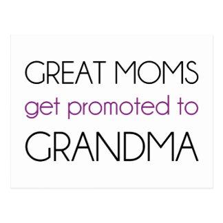Große Mammen erhalten zur Großmutter gefördert Postkarte