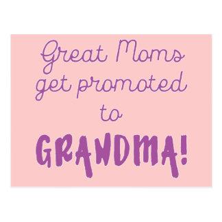 Große Mammen erhalten zur Großmutter gefördert! Postkarte