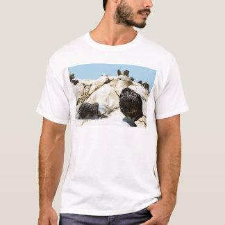 Große Morchel mit Schnecke und Flügel Tafoni T-Shirt