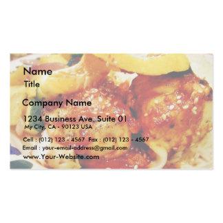 Große Nahrung für Abendessen Visitenkarten Vorlage