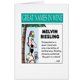 Große Namen in den Weinen: Melvin Riesling Karte