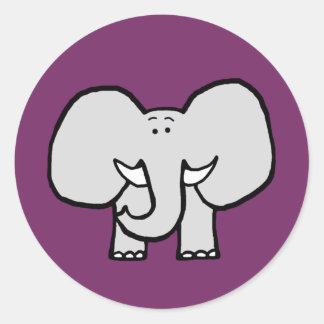 Große Ohren die Elefant-lila Aufkleber