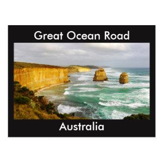 Große Ozean-Straßen-Australien-Postkarte Postkarte