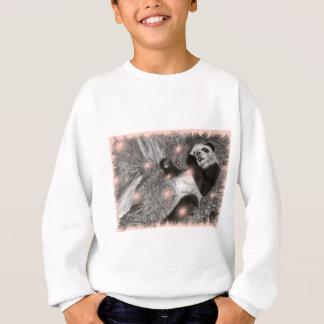 Große Panda-Spiel-Rosa-Blasen Sweatshirt