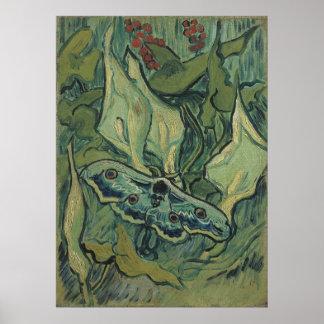 Große Pfau-Motte durch Vincent van Gogh Poster
