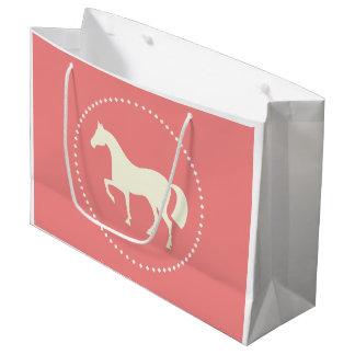 Große Pferde-/Pony-Silhouettegeschenktasche Große Geschenktüte