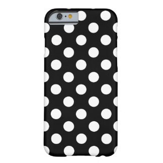 Große Polka Dots Schwarz/ Weiß Muster Trend Design Barely There iPhone 6 Hülle