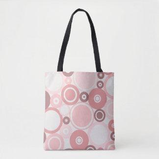 Große Polka-Punkt-Pfirsichthema Taschen-Tasche Tasche