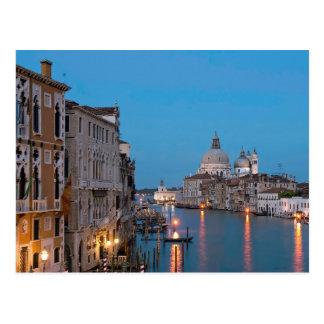 Große Postkarte blaue Stunde Canale