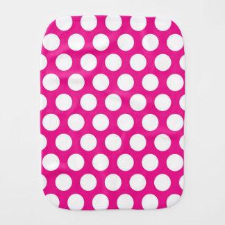Große Punkte auf Pink-Entwurf Spucktuch