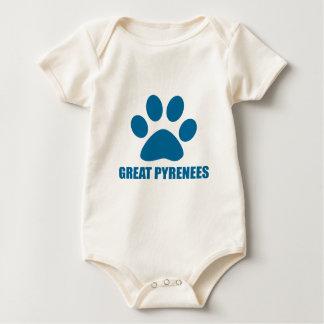 GROSSE PYRENÄEN-HUNDEentwürfe Baby Strampler
