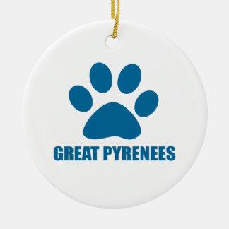 GROSSE PYRENÄEN-HUNDEentwürfe Keramik Ornament
