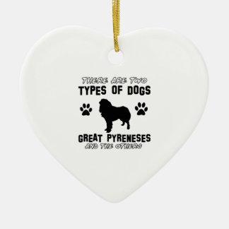 Große Pyrenäen-Hundezuchtentwürfe Keramik Ornament