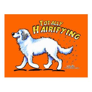 Große Pyrenäen total Hairifying Postkarte