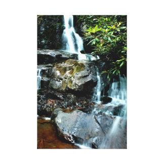 Große rauchige Nationalpark-Wasser-Fälle Leinwanddruck