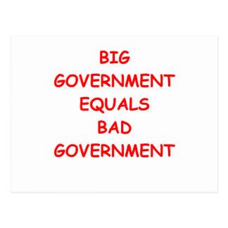 große Regierung Postkarte