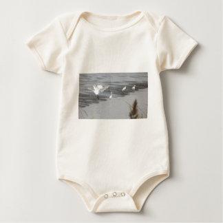 Große Reiher in einem Sumpf Baby Strampler
