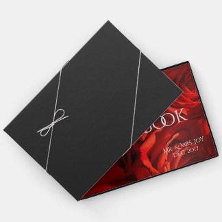 Große romantische Rosen-kundenspezifisches Gästebuch