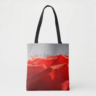 Große romantische Rosen-Taschentasche Tasche