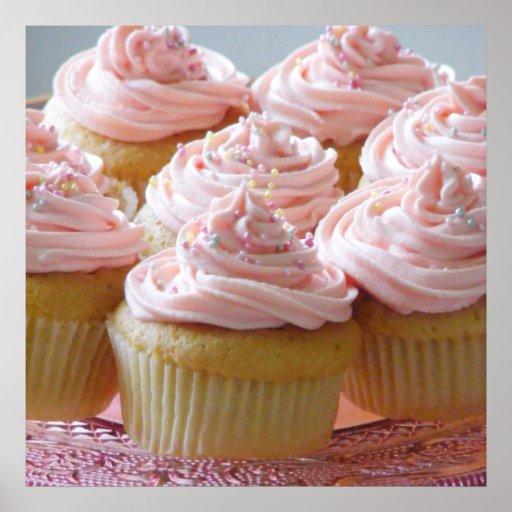 Große rosa kleine Kuchen Posterdrucke