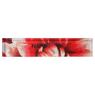Große rote Blume Schreibtischplakette
