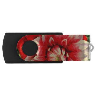 Große rote Blume USB Stick