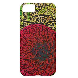 Große rote Dahlie iPhone 5C Hülle