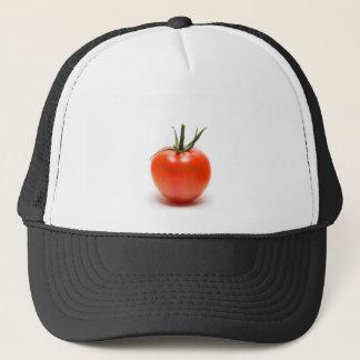 Große rote saftige Tomate Truckerkappe