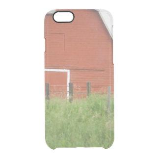 Große rote Scheune Durchsichtige iPhone 6/6S Hülle