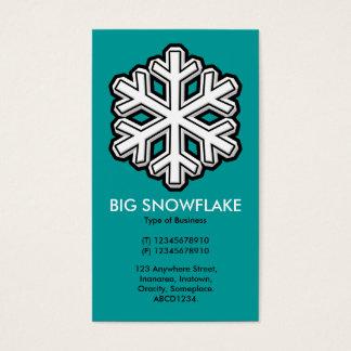 Große Schneeflocke - Türkis (009999) Visitenkarte