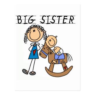 Große Schwester-Baby-Bruder-T-Shirts und Geschenke Postkarte