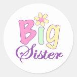 Große Schwester (Blume) Runde Aufkleber