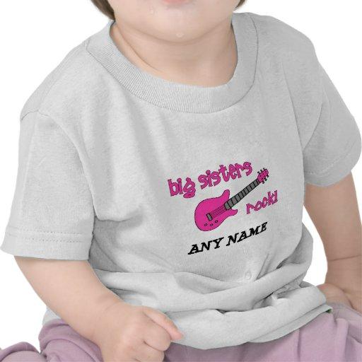 Große Schwester-Felsen! mit rosa Gitarre Hemden