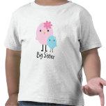 Große Schwester-Frühlings-Vogel-Mädchen-T-Stück T Shirts