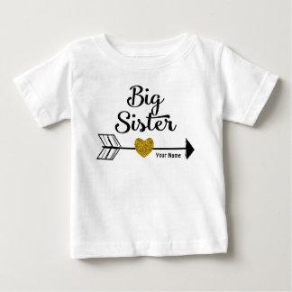 Große Schwester-Goldpfeil-personalisiertes Shirt